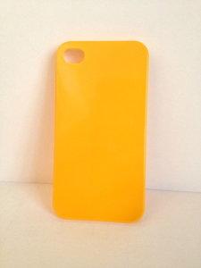 Geel Iphone hoesje (plastic) (4&4s)