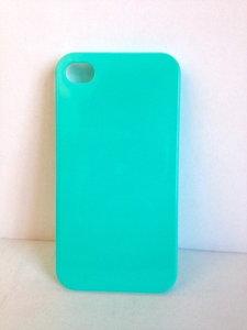 Turquoise iphone hoesje. (plastic, 4&4s)